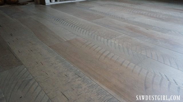 Rough sawn looking floors