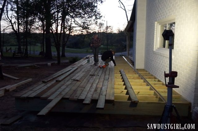 Building a large deck