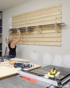 French Cleat Storage for Track Saw Tracks