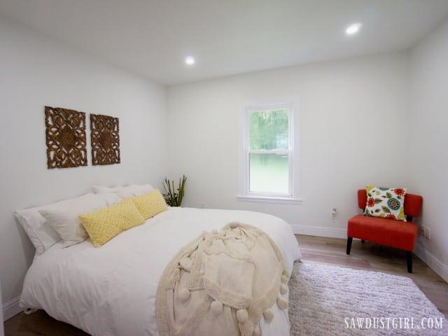 master bedroom at Calderwood Cottage