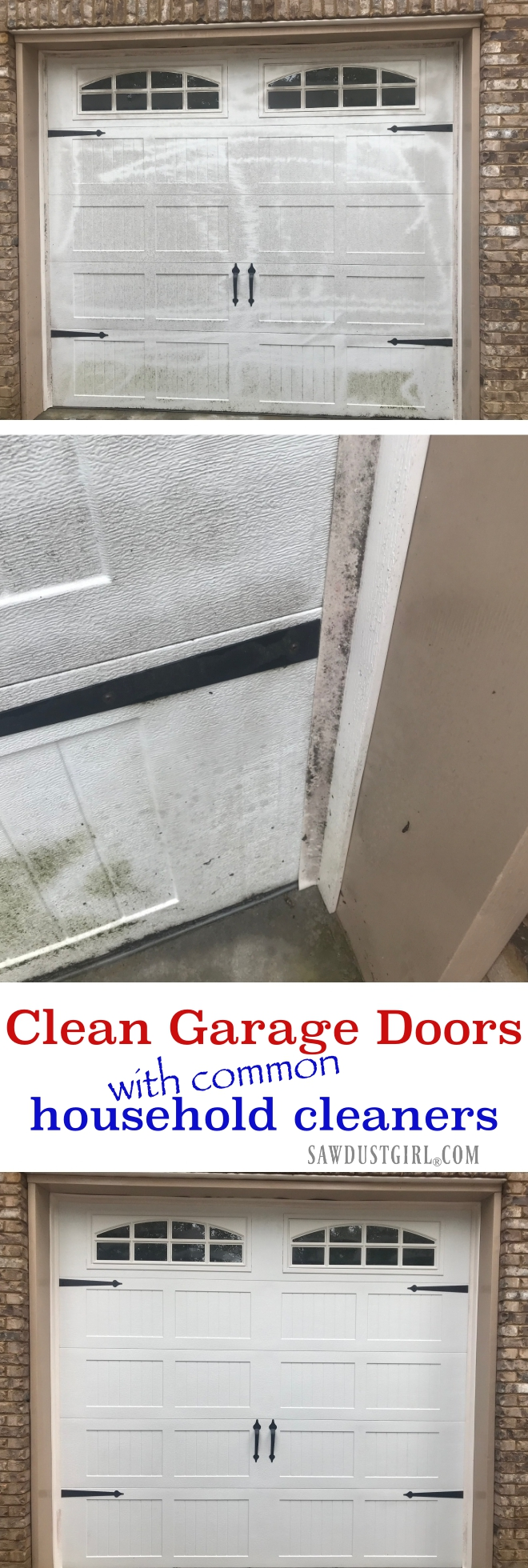 how to clean garage doors with common household cleaners