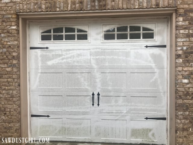 How to clean a garage door - not with a pressure washer