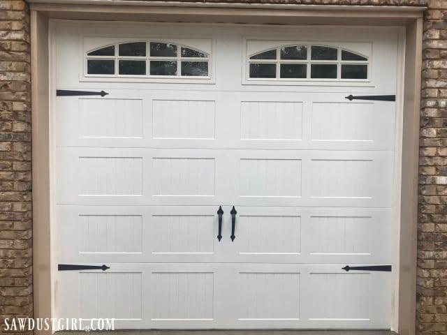 Clean mildew off your garage door with simple household clearners