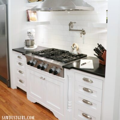Adding Decorative Legs to Cooktop Cabinet