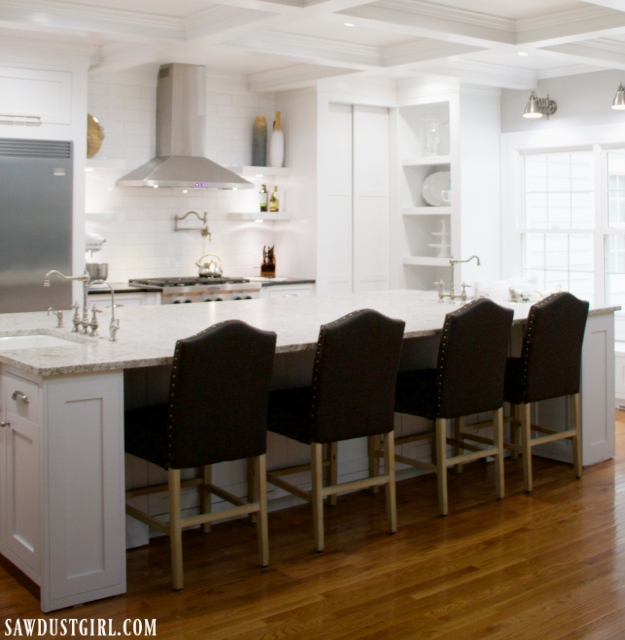 Kitchen Island with Hidden Cabinet Doors - Sawdust Girl®