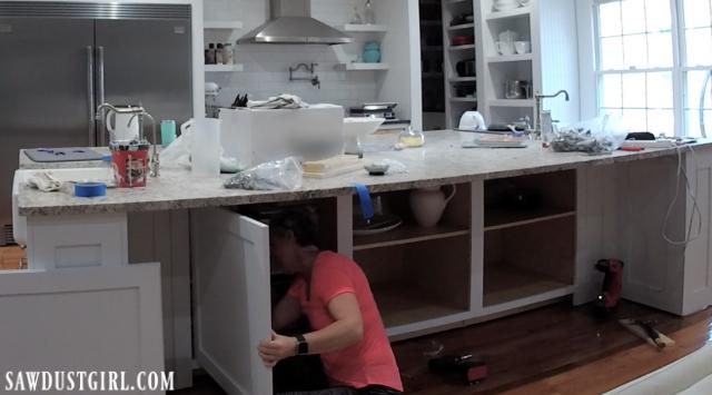 Installing hidden cabinet doors