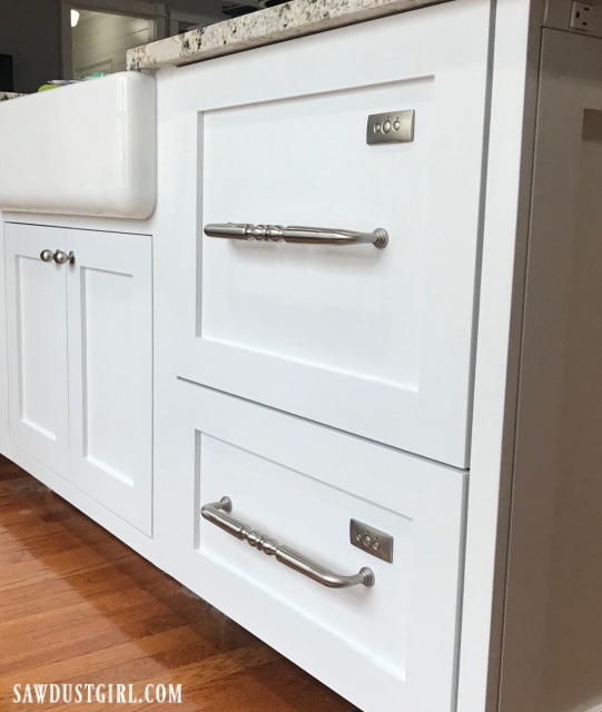 Dishwasher drawers with custom, integrated panels.