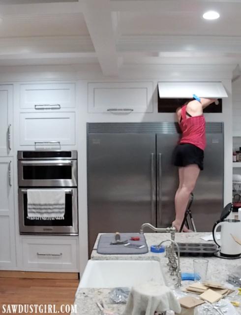 Installing lid flap cabinet door stays