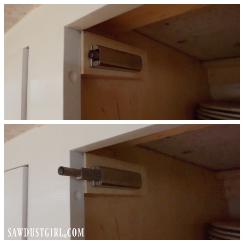 Push latch for cabinet doors with no knobs