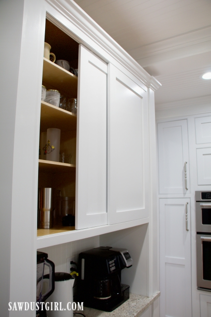 Sliding Cabinet Doors With Inset Track, Sliding Kitchen Cabinets Doors