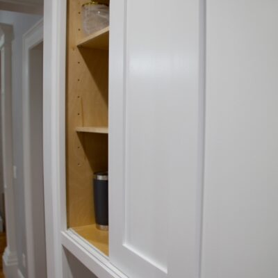 Sliding Cabinet Doors with Inset Track and Glides
