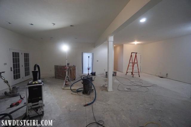 prepping concrete subfloor