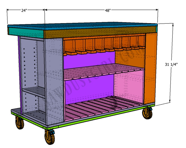 mobile workbench and tool storage - free plans