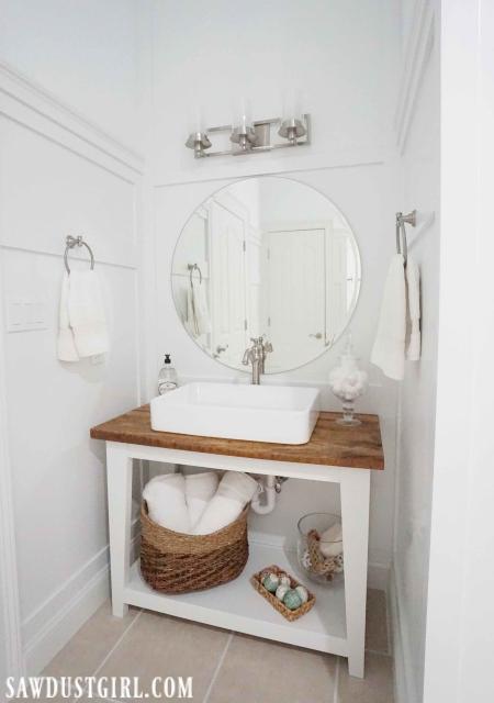 Beautiful live edge, wood vanity countertop