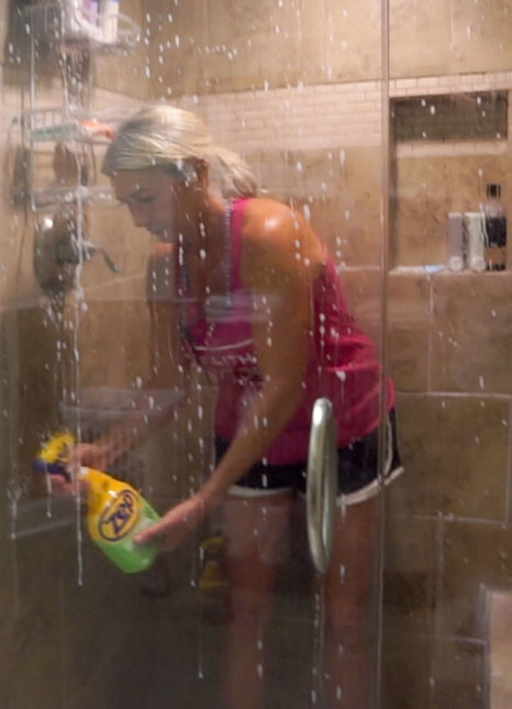 deep cleaning shower