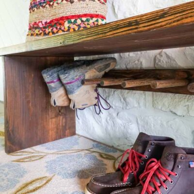 Bench with Built-in Boot Rack